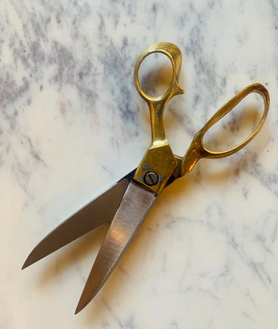 Brass and Steel Tailor's Scissors