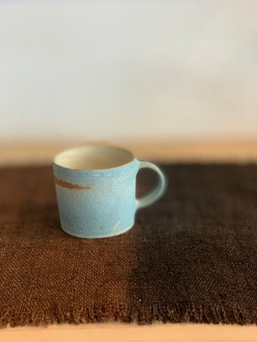 Duck Egg Blue Textured Mug