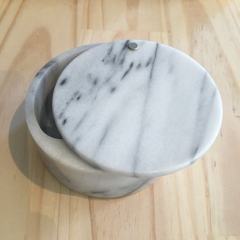 Marble Storage Box with Sliding Lid