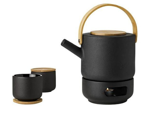 Theo Teapot, Warmer and Cup Set