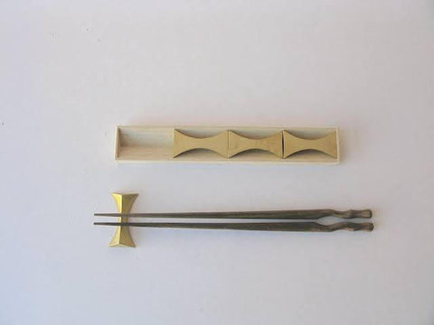 Chopstick Rests in Solid Brass