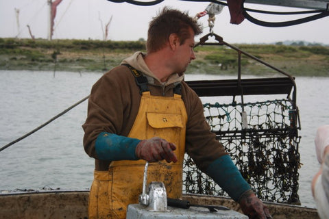Bram Haward. Eighth generation oysterman. Mersea Island