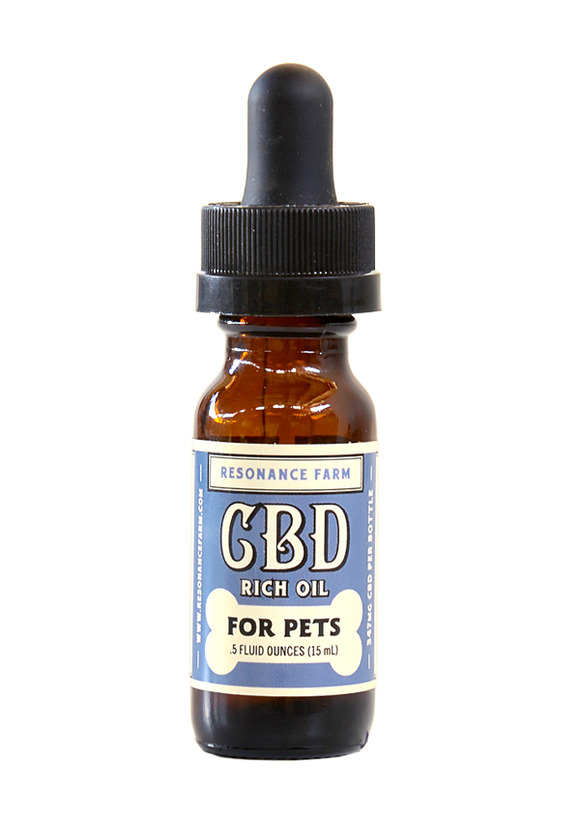 Resonance Farm - PET FORMULA CBD OIL – 350mg - 1/2 OZ.