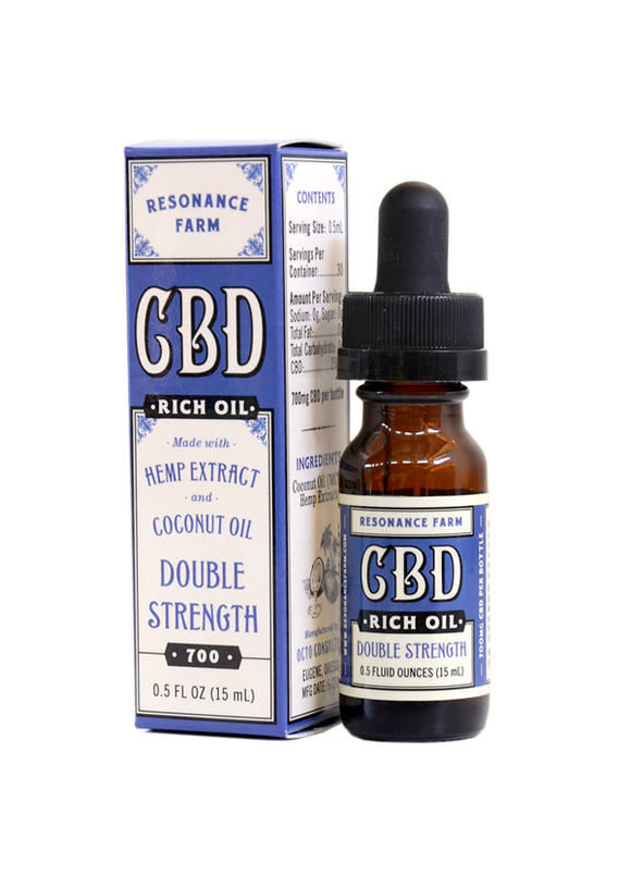 Resonance Farm - CBD RICH OIL – DOUBLE STRENGTH FORMULA – 700mg - 1/2 OZ.