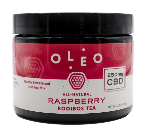 Oleo - Rooibos Tea Mix Jar - Raspberry-(Caffeinated)