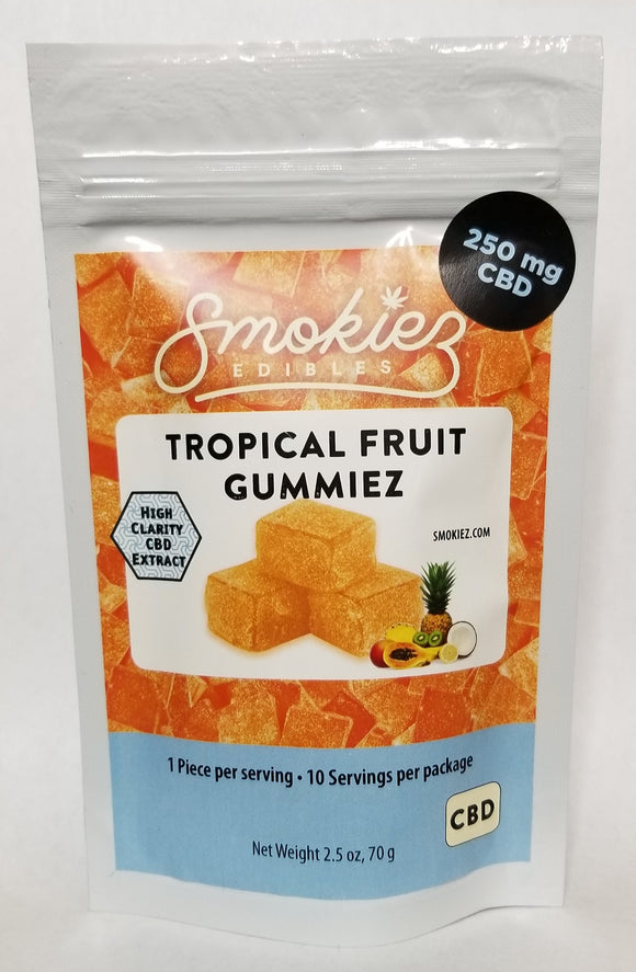 Smokiez- Tropical Fruit Gummiez- (25mg ea/10pk)
