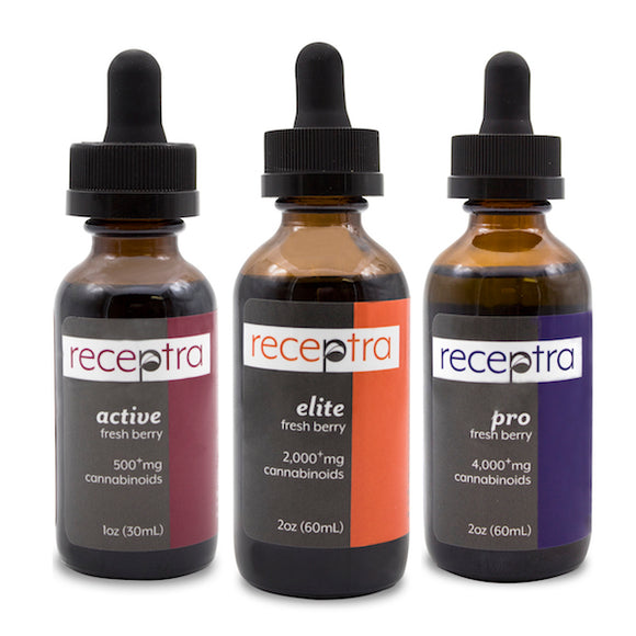 Receptra Naturals Active Lifestyle Tinctures w/ Turmeric (Active/Pro/Elite)