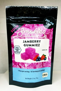 Smokiez- Sour Jamberry Gummiez- (25mg ea/10pk)