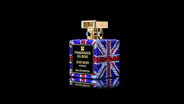 SWAROVSKI OUD NOIR INTENSE UNION JACK EDITION 1 OF 1 CUSTOM ORDER - Fragrance Du Bois