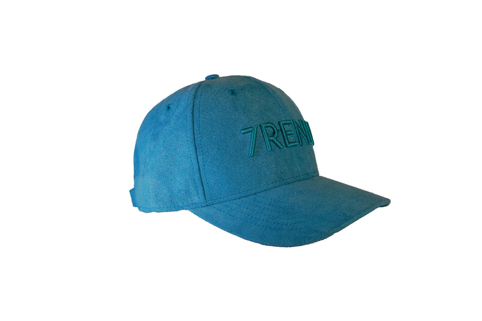 Teal Blue Suede Baseball Cap - 7rendi