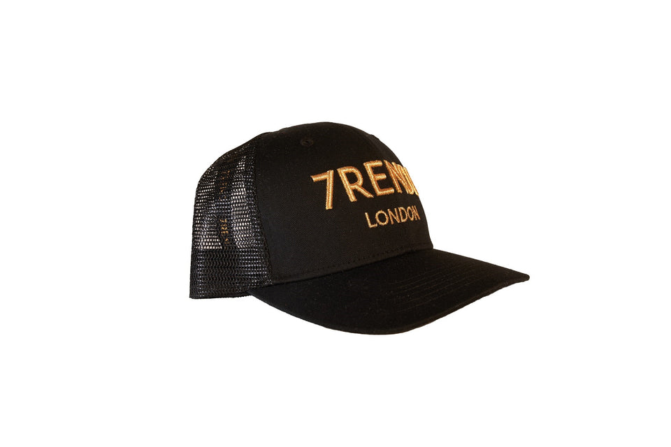 Black Trucker With Gold 7RENDI - 7rendi