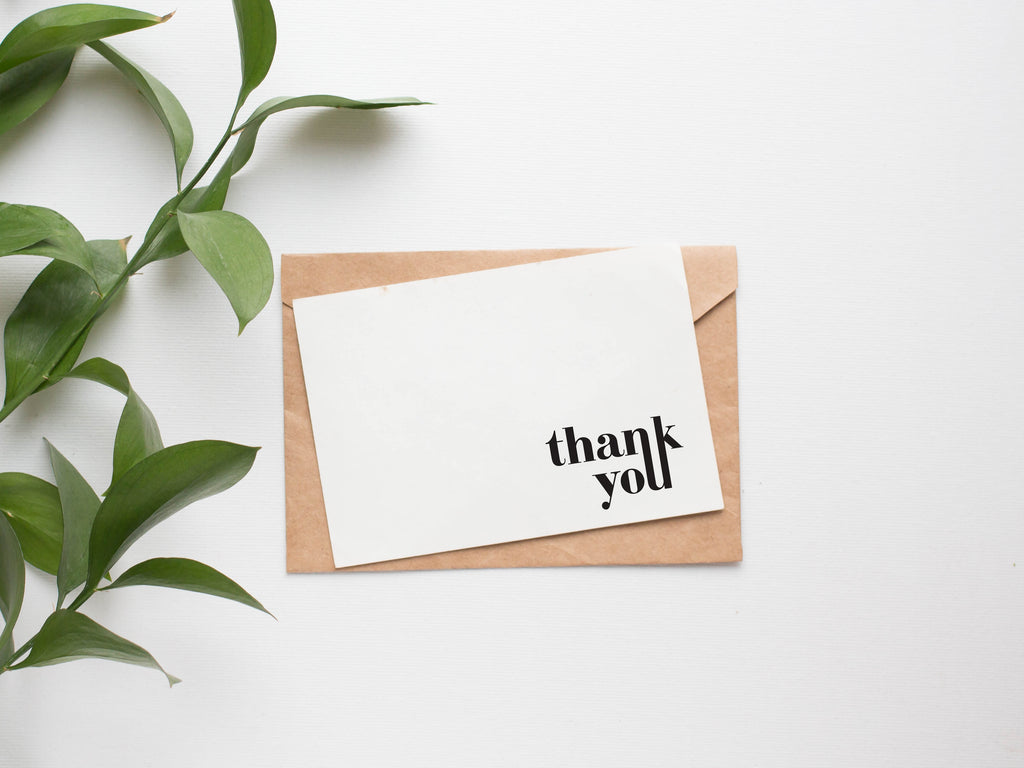 Expressive Typography Thank You Card