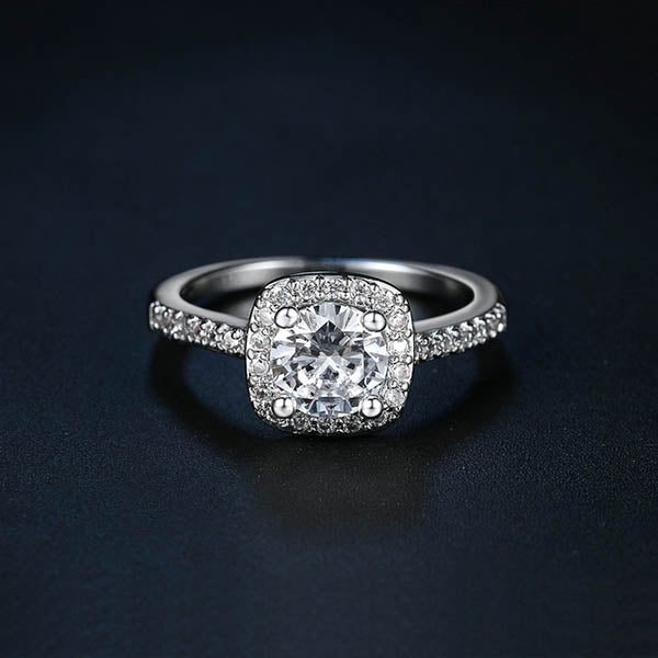 Cushion-Cut Sparkle Ring