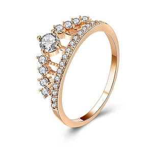 Princess Crown Crystal Ring