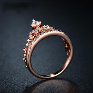 Rose Gold Round Cut Ring