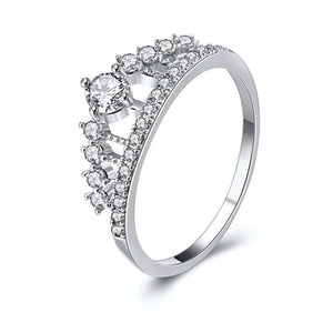 Classic Crown Crystal Ring