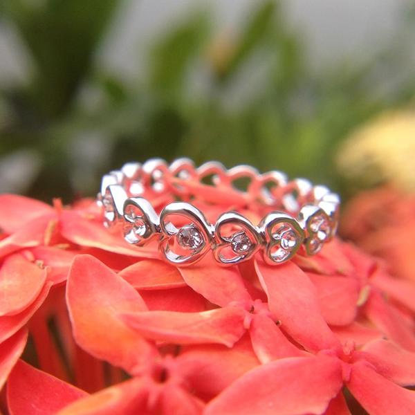 Linked Love Ring