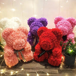 15 Inch Rose Teddy Bear