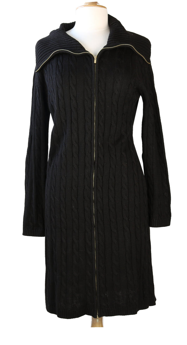 CALVIN KLEIN BLACK 3/4 SWEATER DRESS SIZE XL