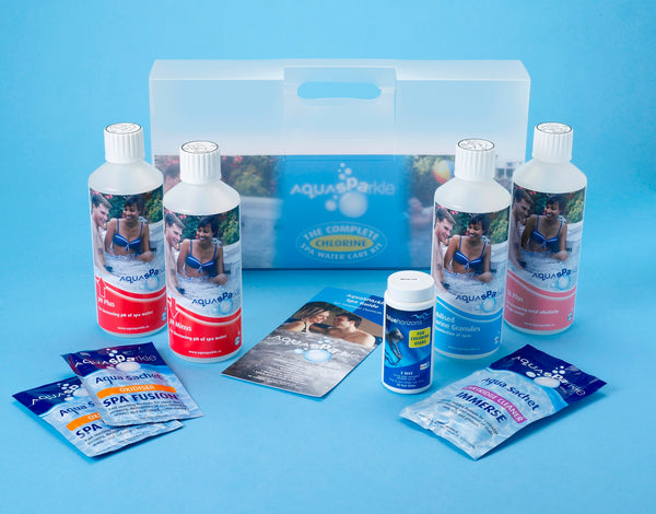 AquaSparkle Complete Spa Starter Kit - Chlorine