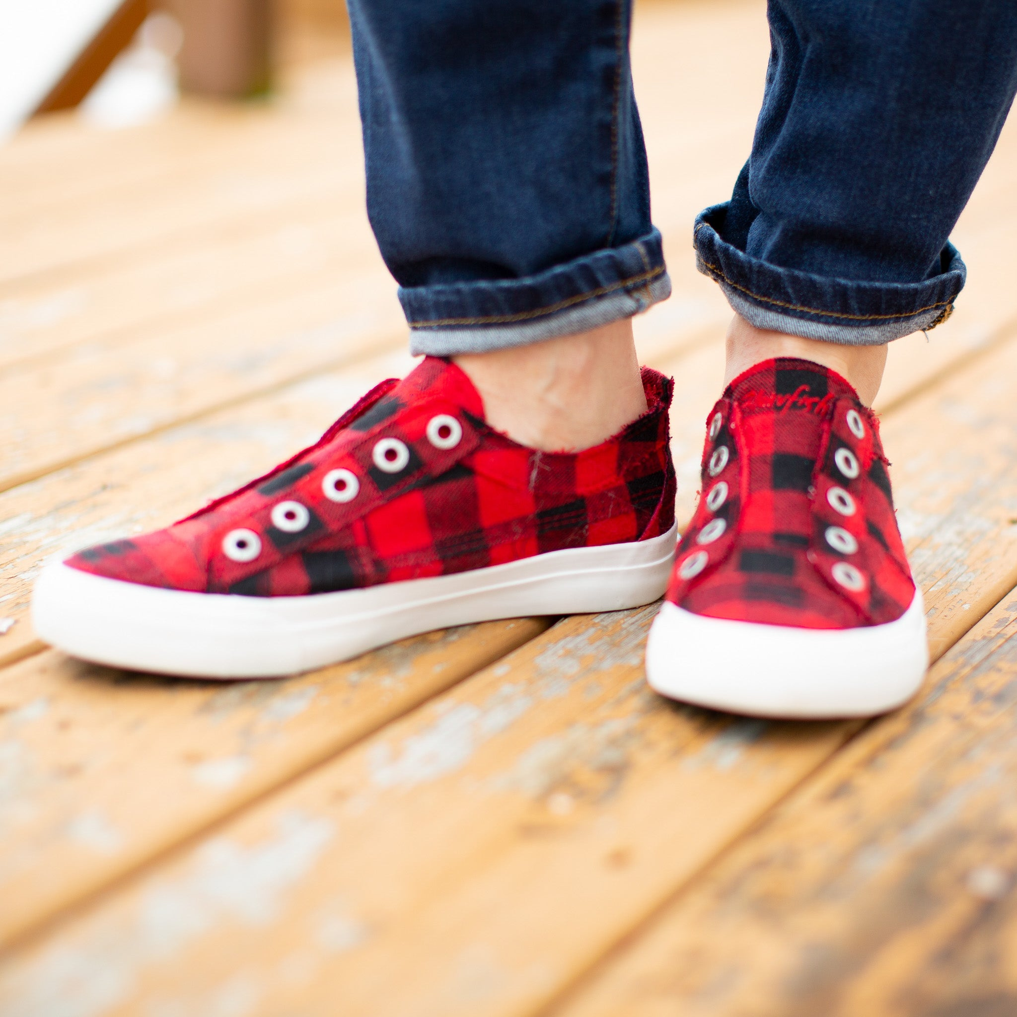 Blowfish Play Buffalo Plaid Sneaker