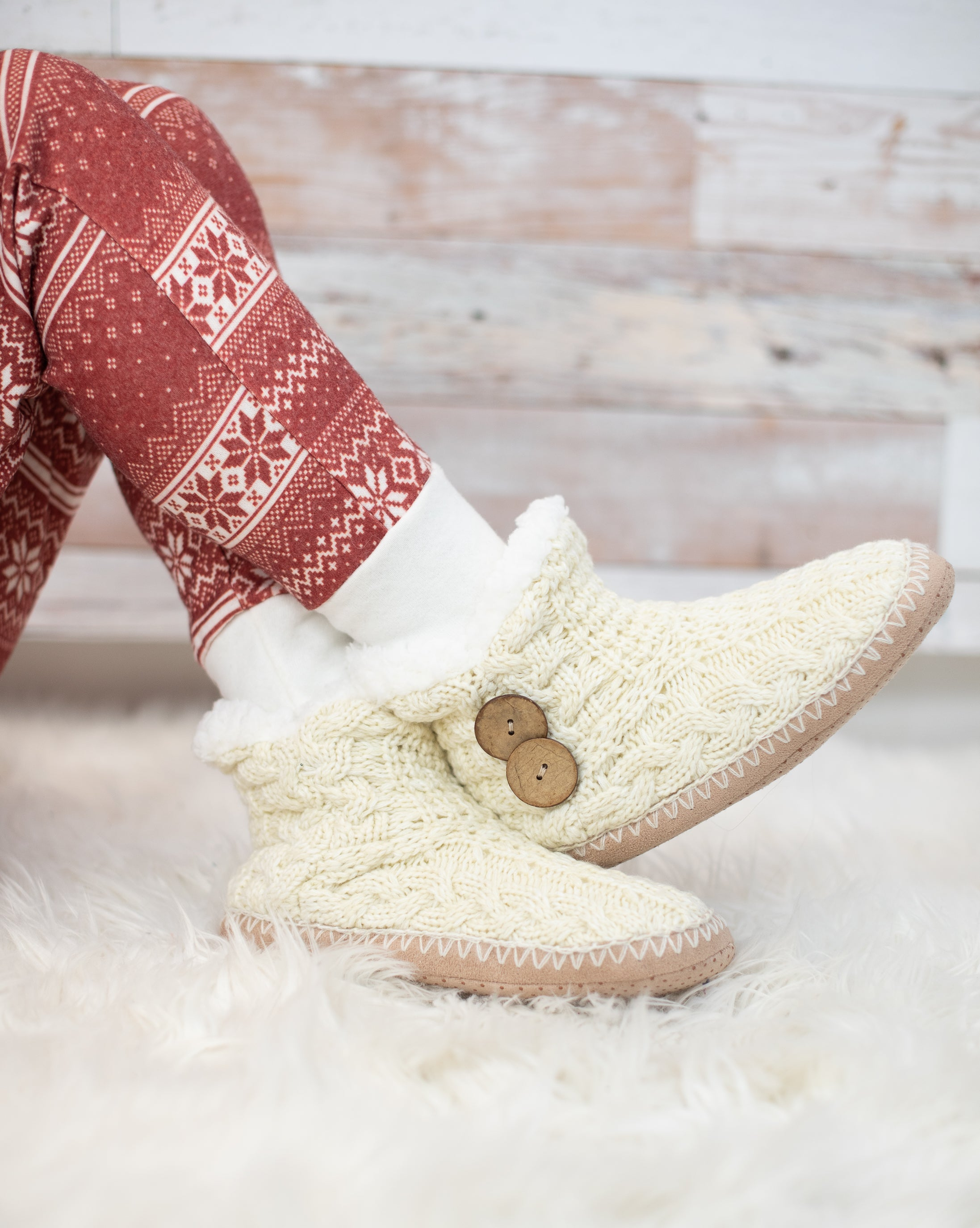Coconut Button Slippers