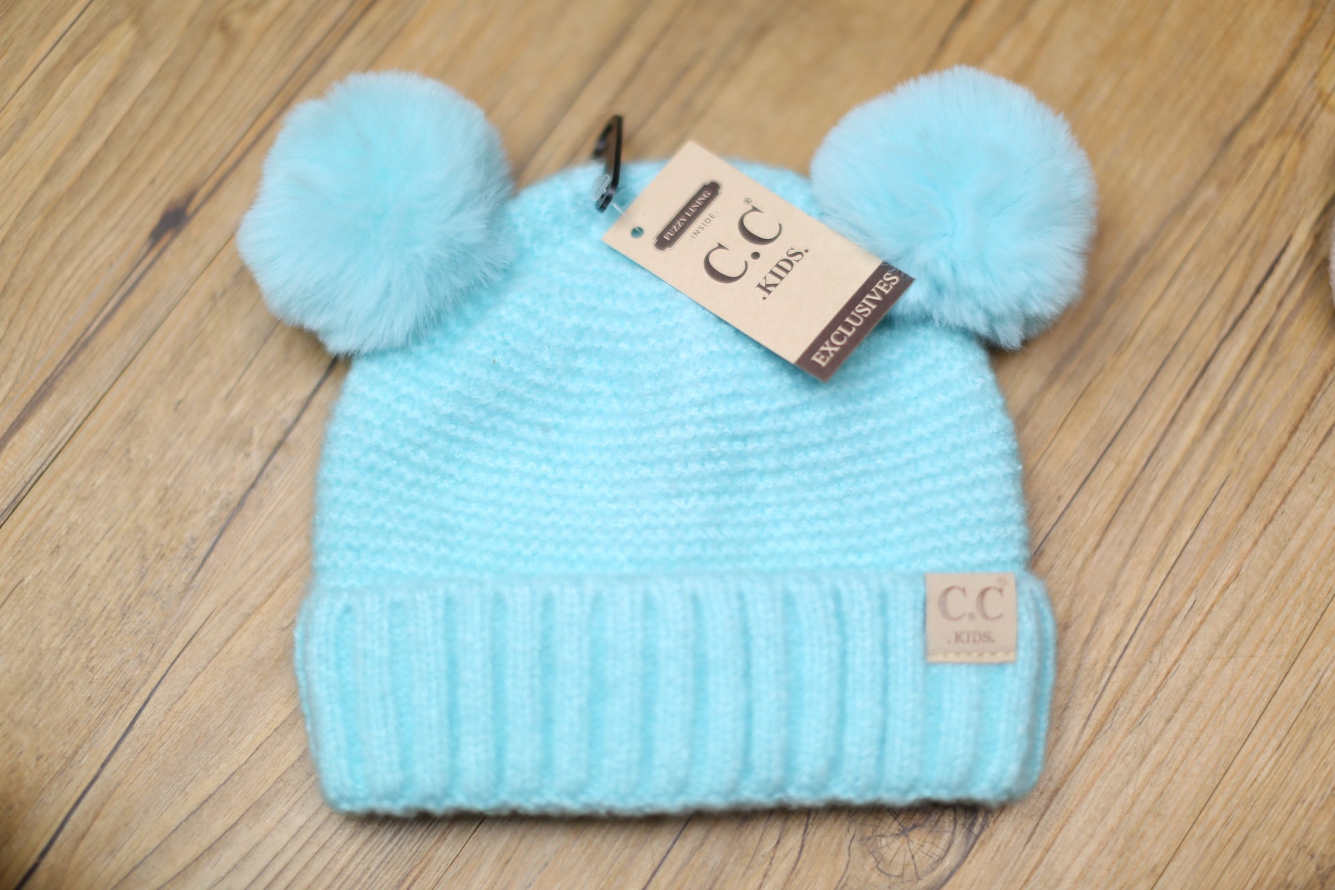 Kids Hat w/ Double Pom