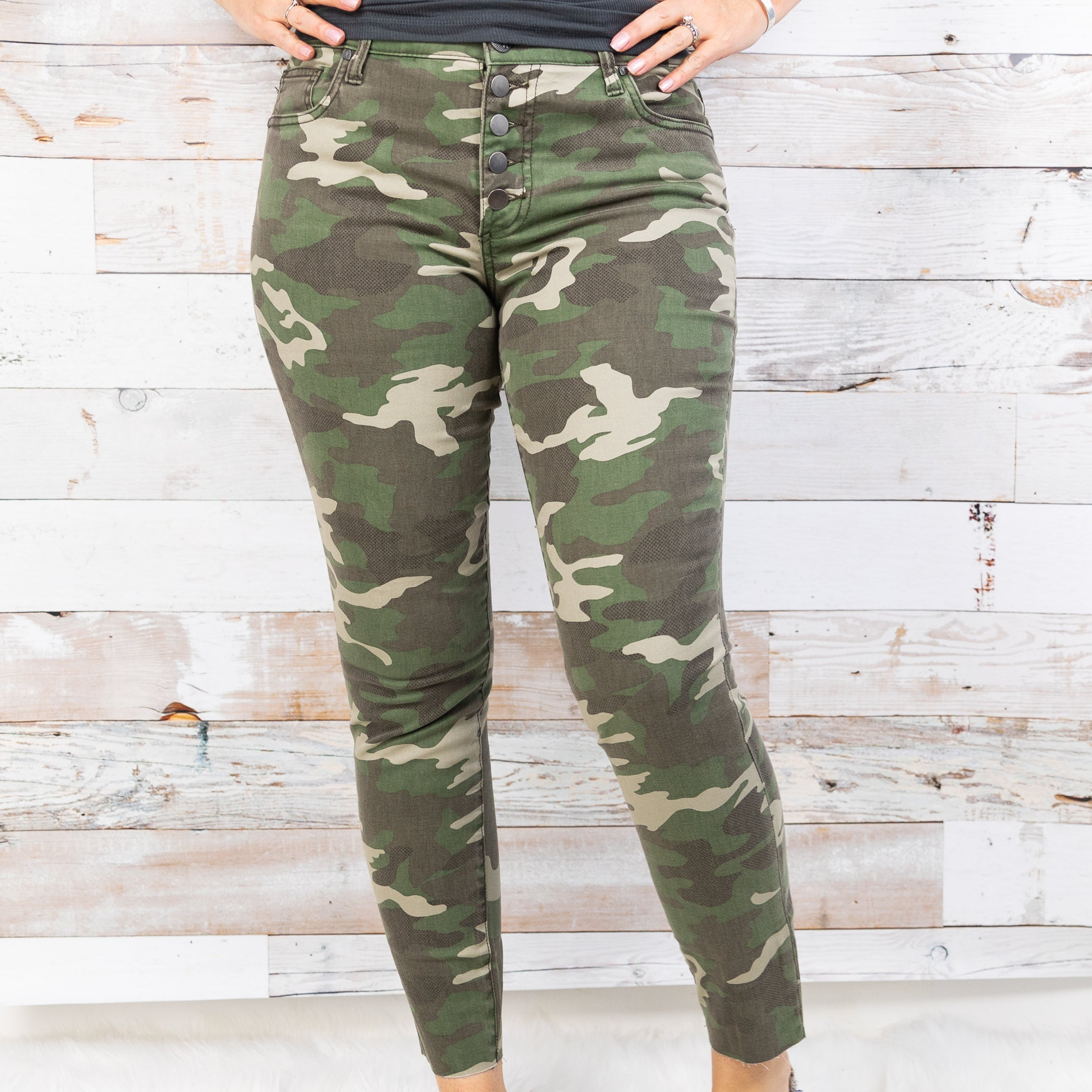KUT Camo High Rise Ankle Skinny Jeans *Final Sale*