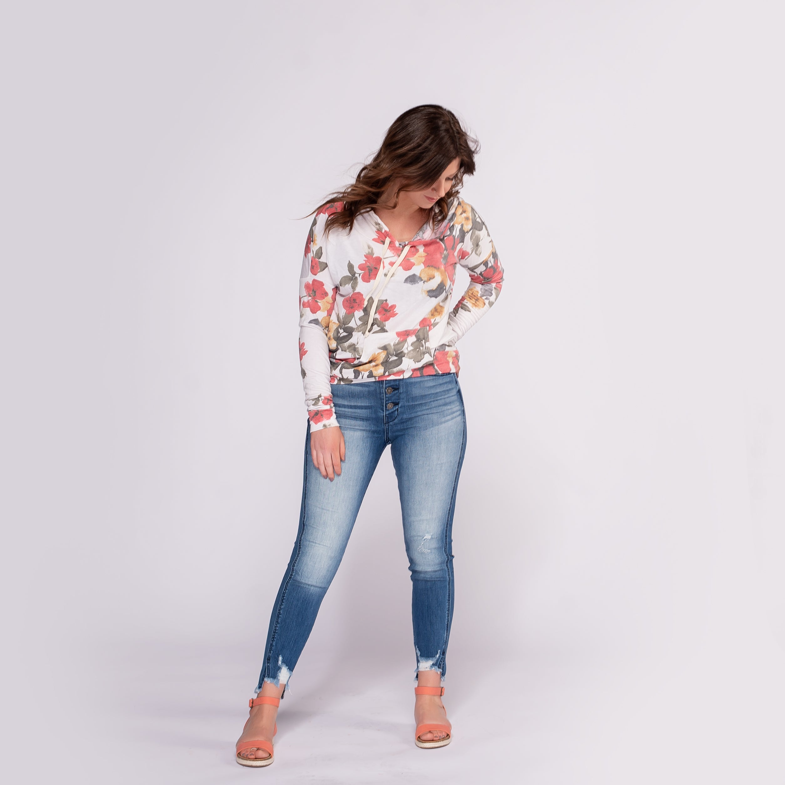 Kancan High Rise Skinny Jean with Frayed Waist and Hem *Final Sale*