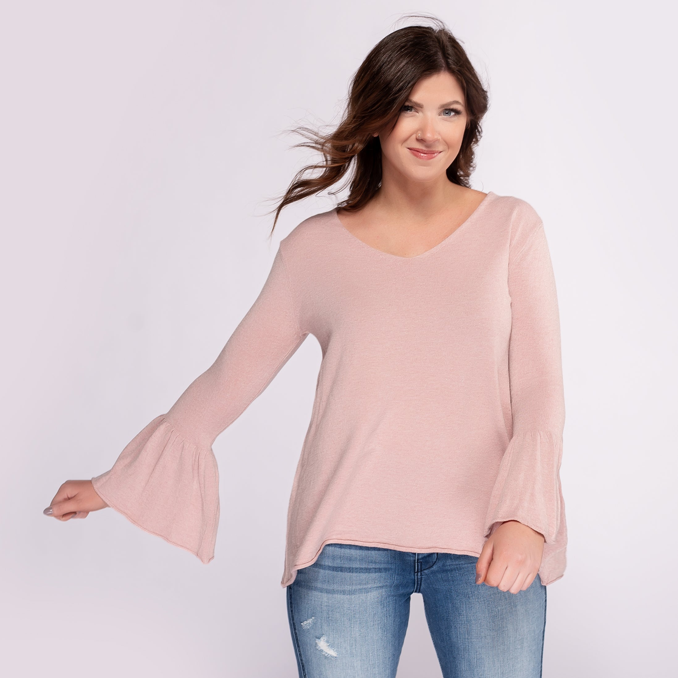 Nostalgia Soft Sweater with Bell Sleeves