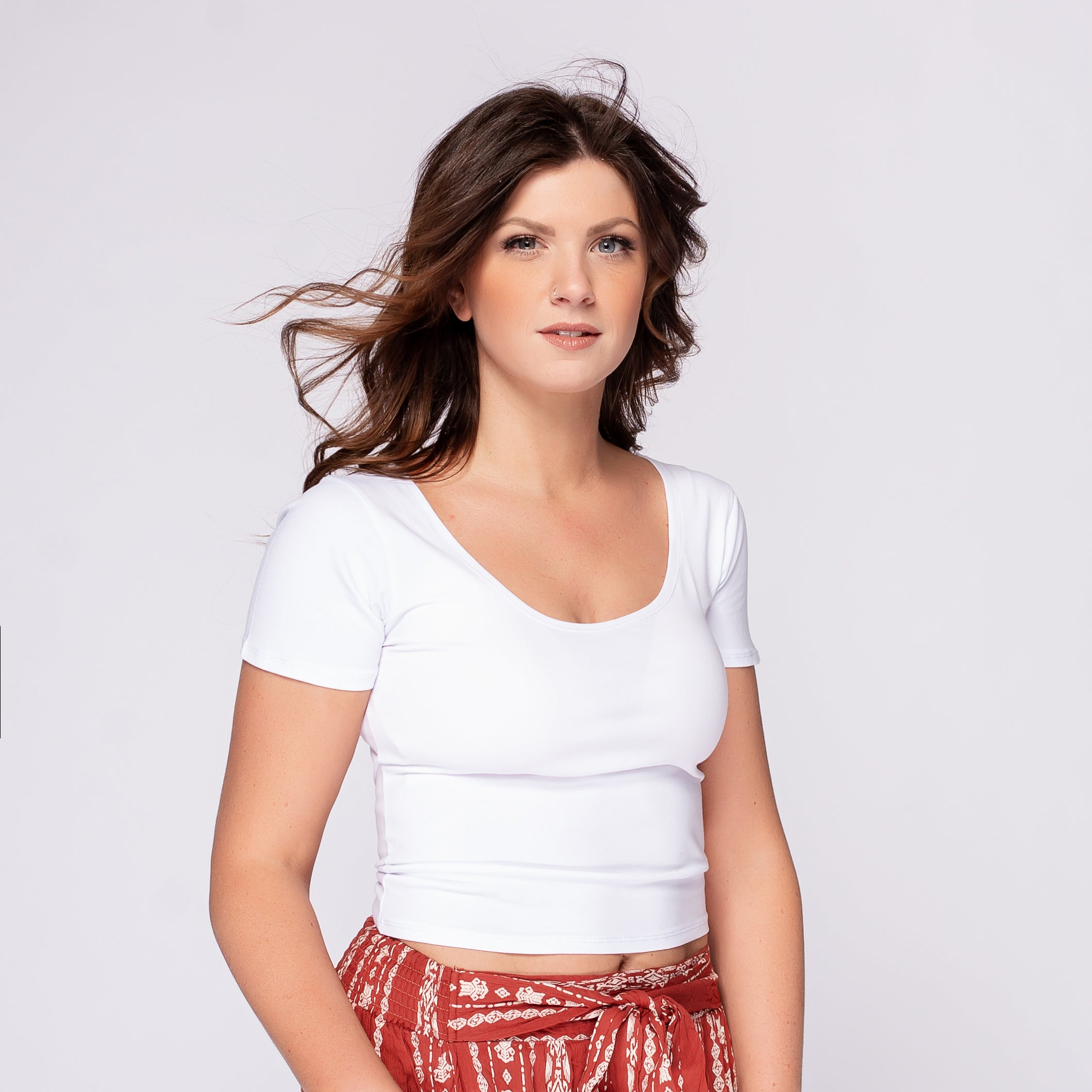 Angie Fitted Cropped Tee