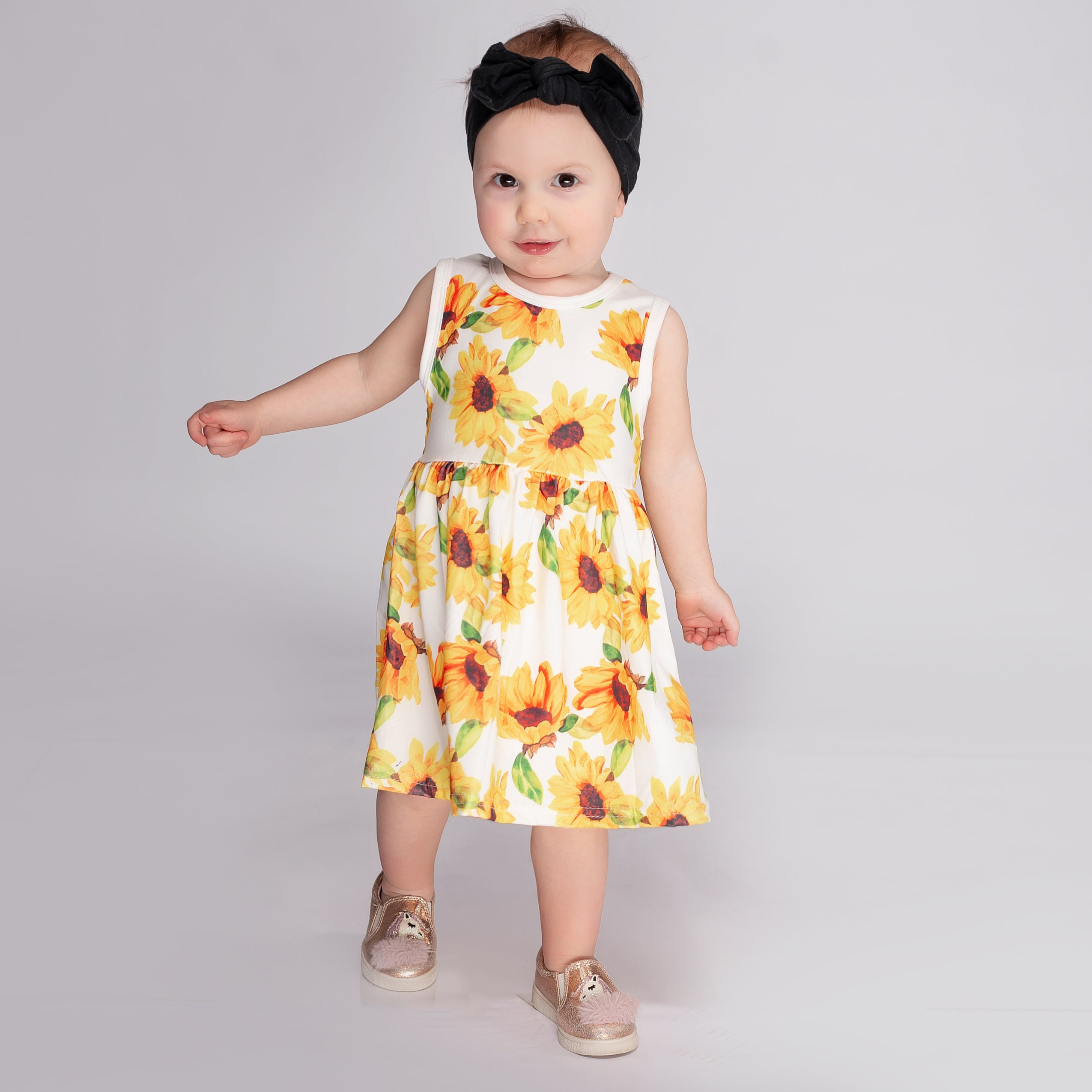 Girls Sunflower Dress