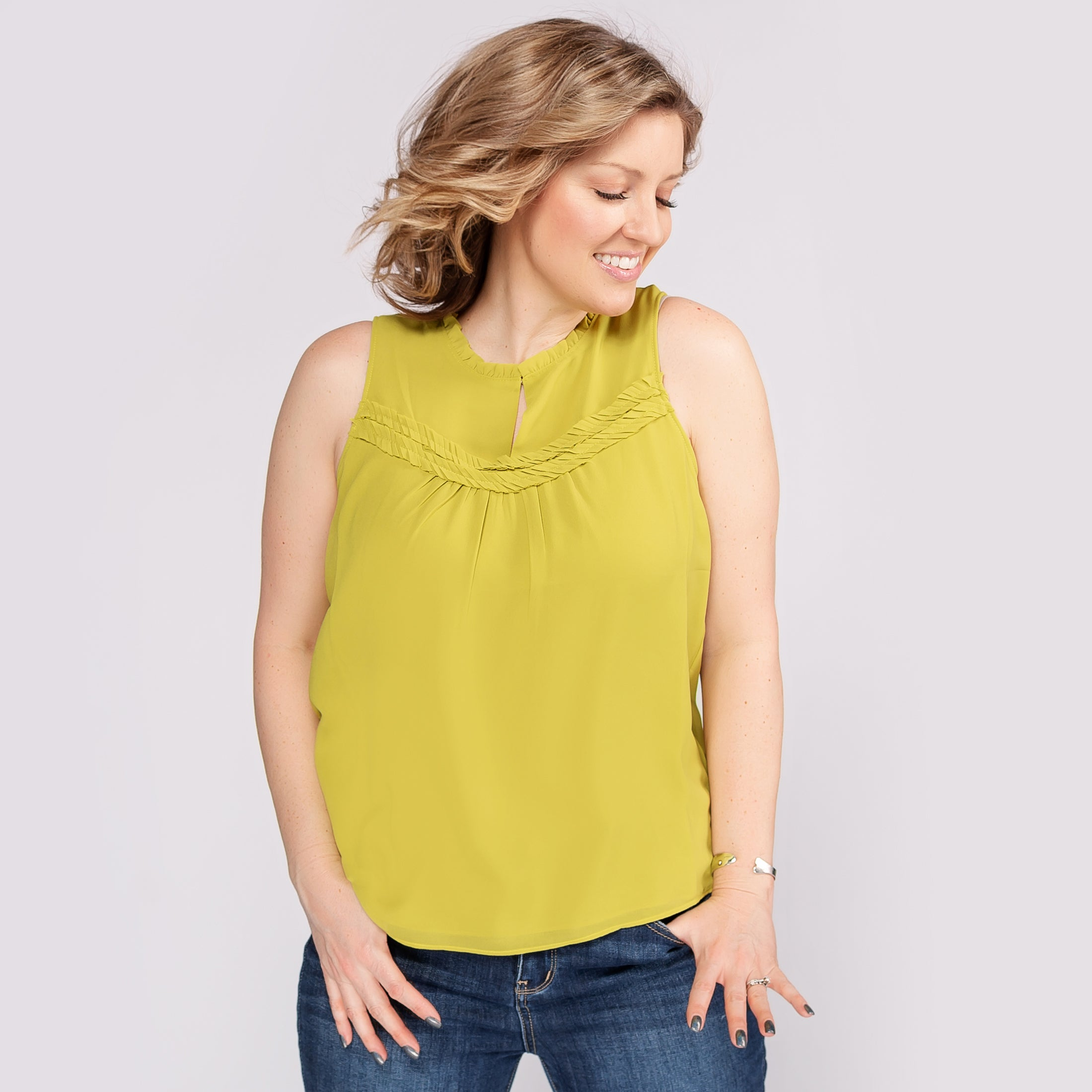 Sleeveless Top with Keyhole *Final Sale*