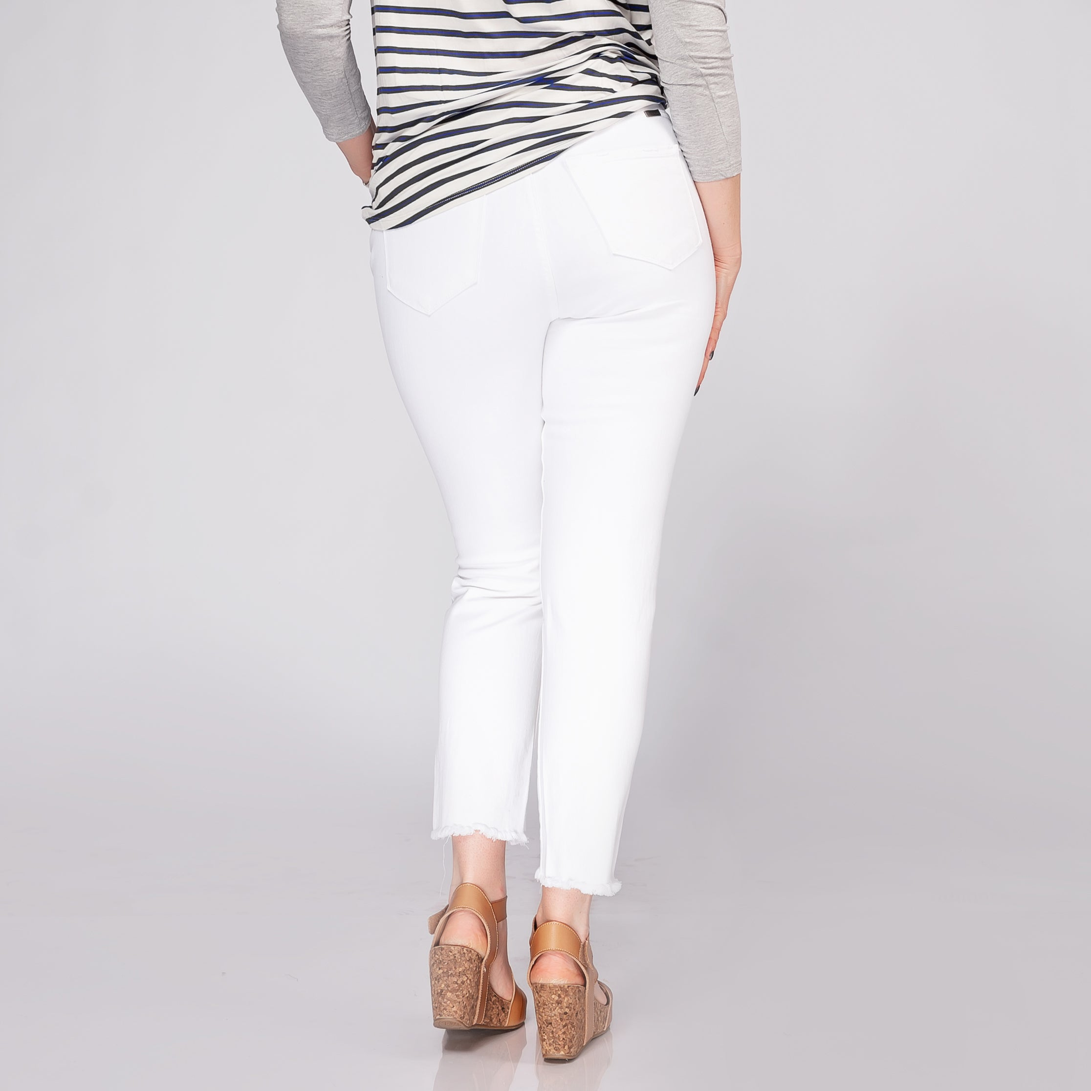 Kancan High Rise Classic White Skinny Jeans *Final Sale*