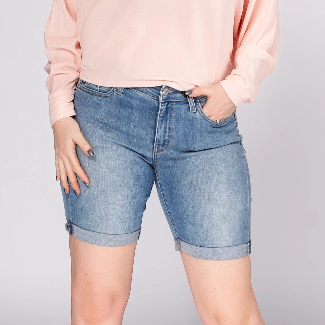 Judy Blue Cuffed Bermuda Shorts *Final Sale*
