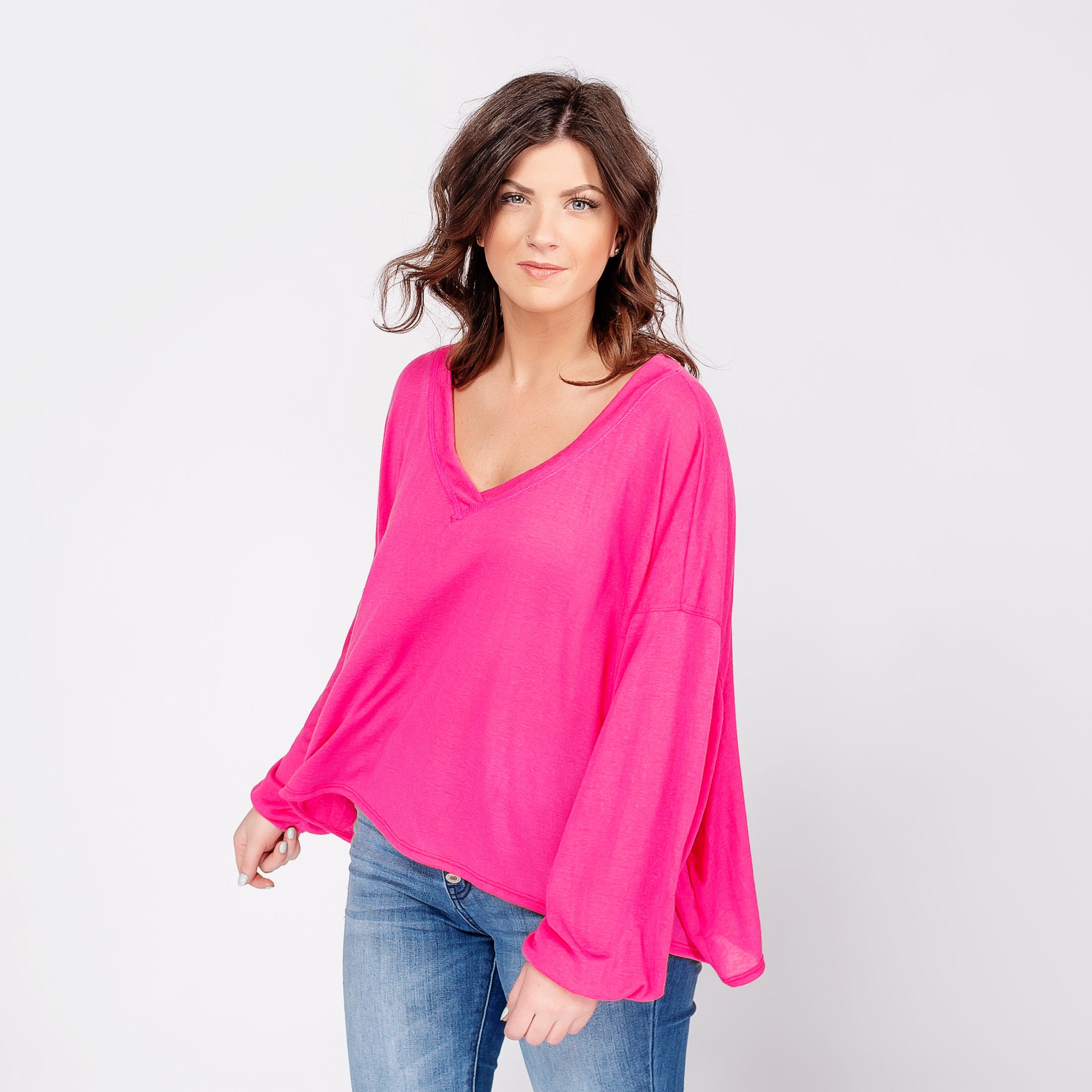 Oversized Crop with Balloon Sleeves