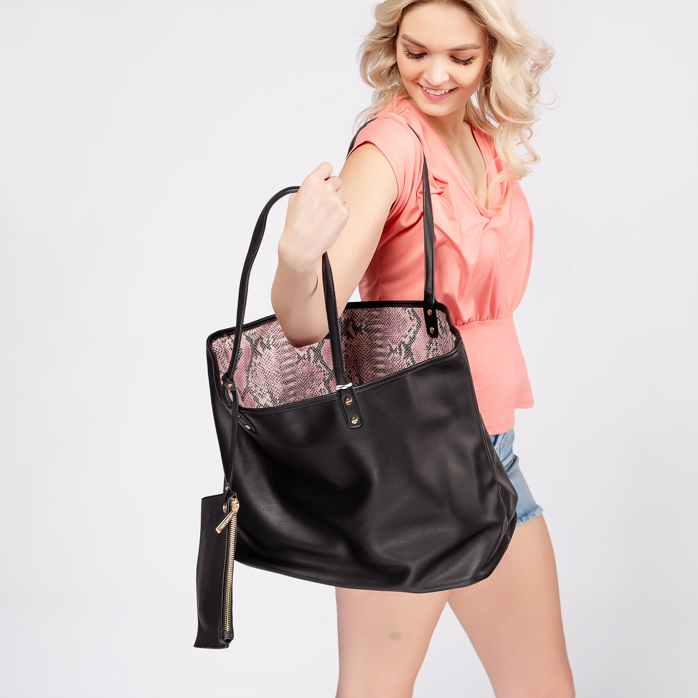 Reversible Tote with Animal Print Interior