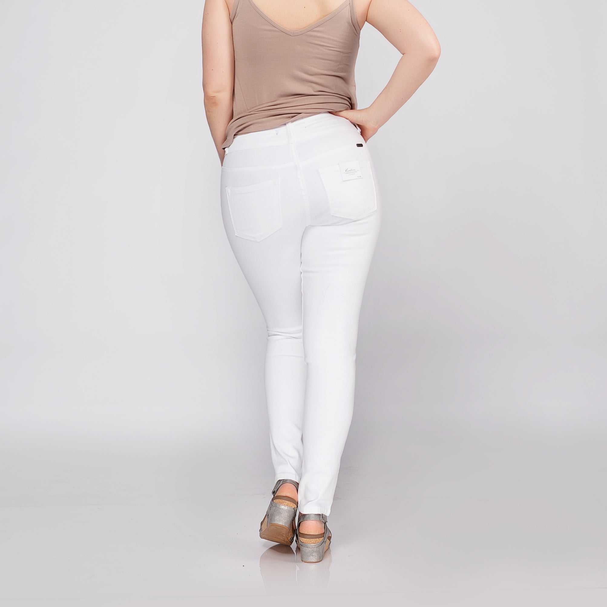 Kancan White High Rise Skinny Jeans *Final Sale*