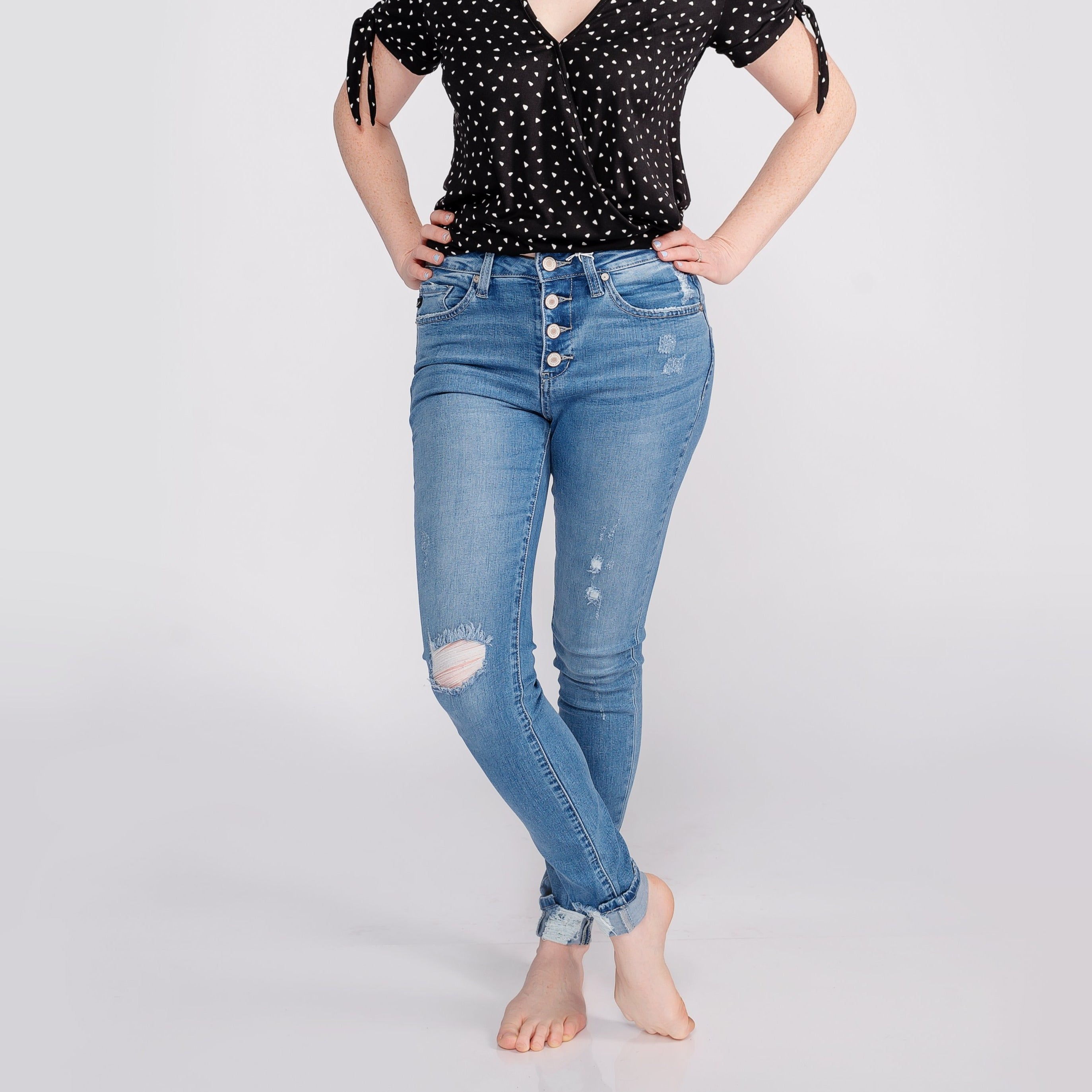 Kancan High Rise Ankle Skinny Jeans *Final Sale*