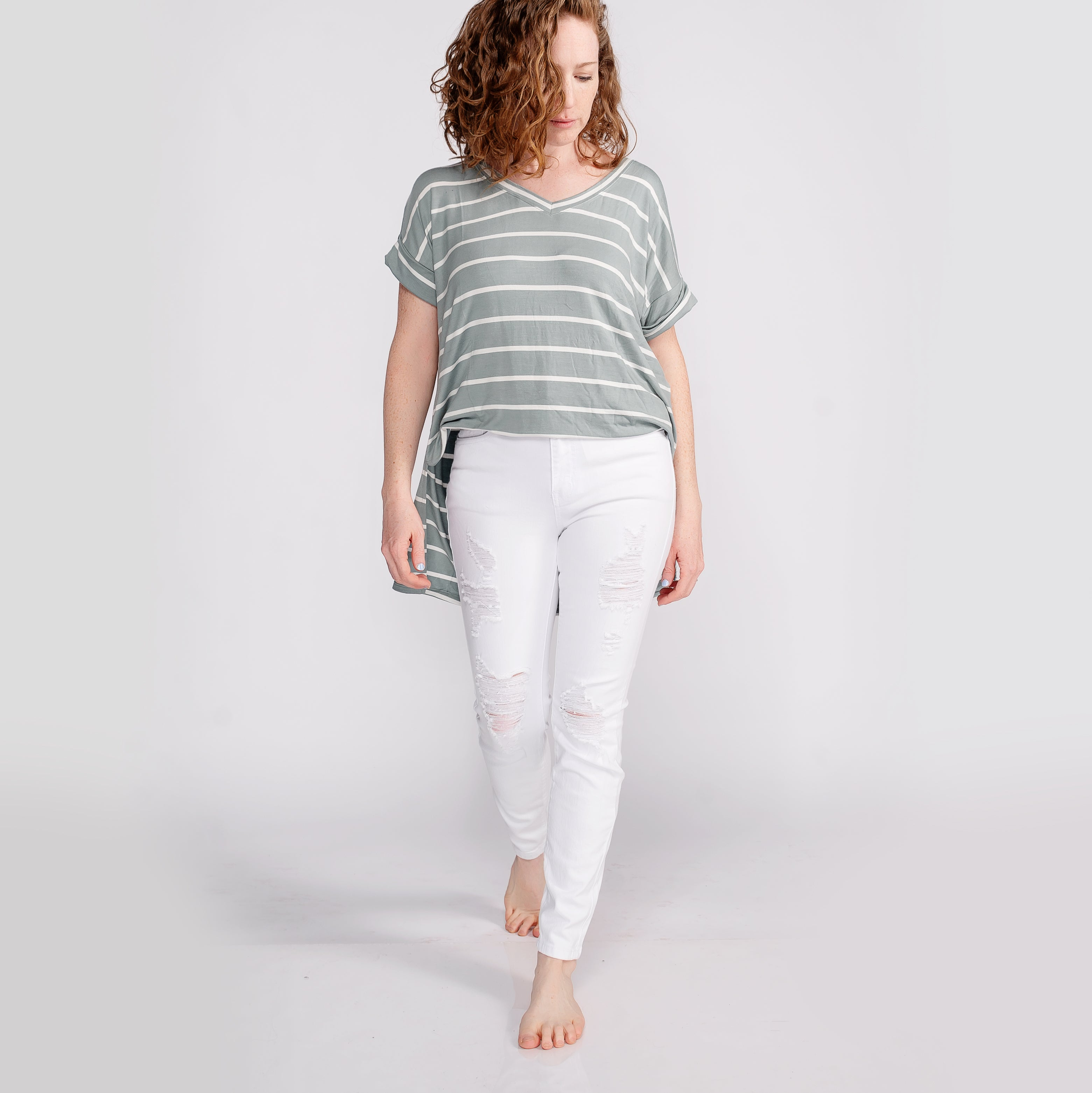 Judy Blue White Destroyed Skinny Jeans *Final Sale*