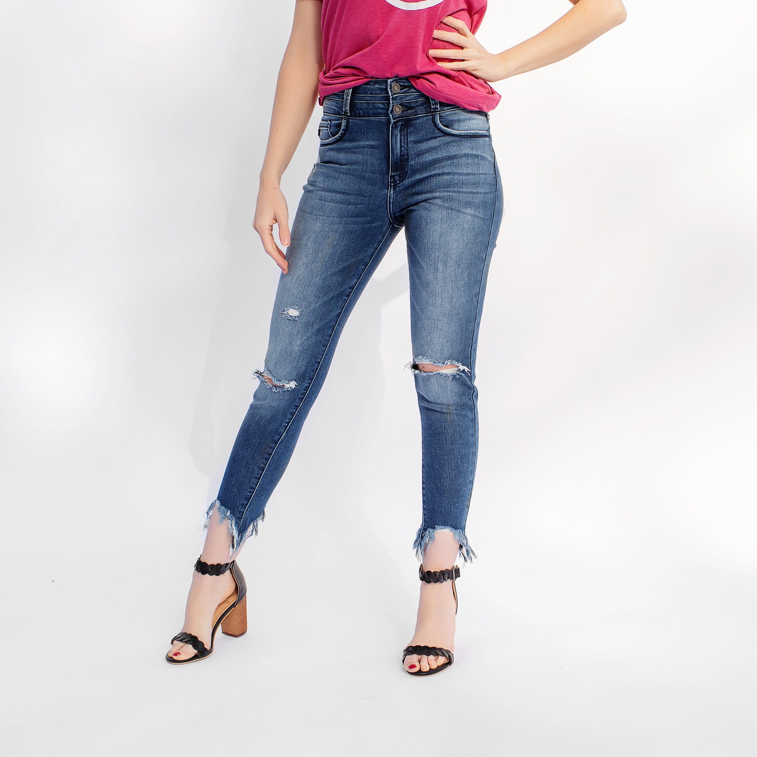 Kancan Gemma High Rise Ankle Skinny Jeans *Final Sale*