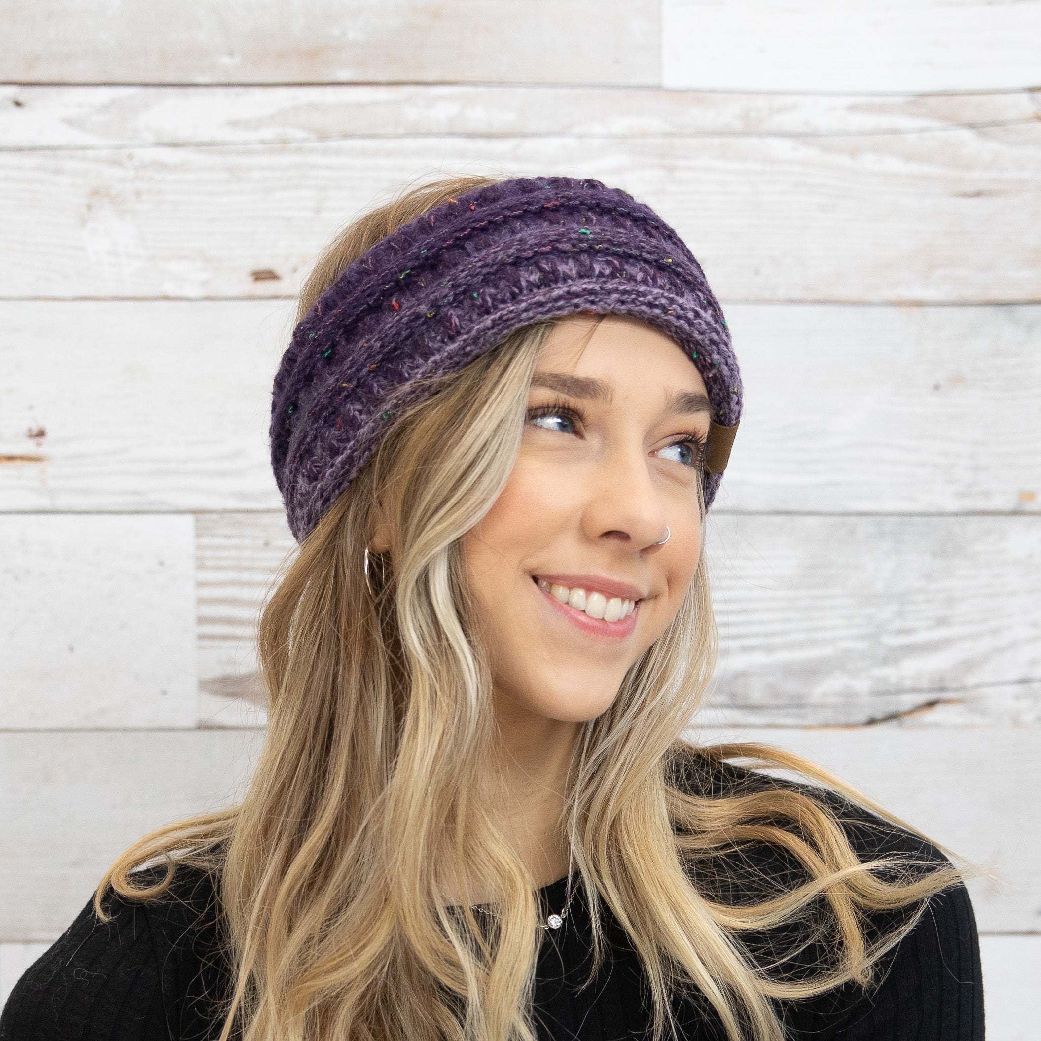 Ombre Ribbed Ponytail Headbands