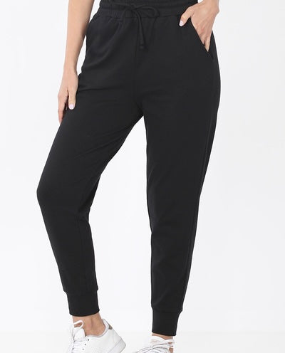 Zenana Plus Fleece Joggers
