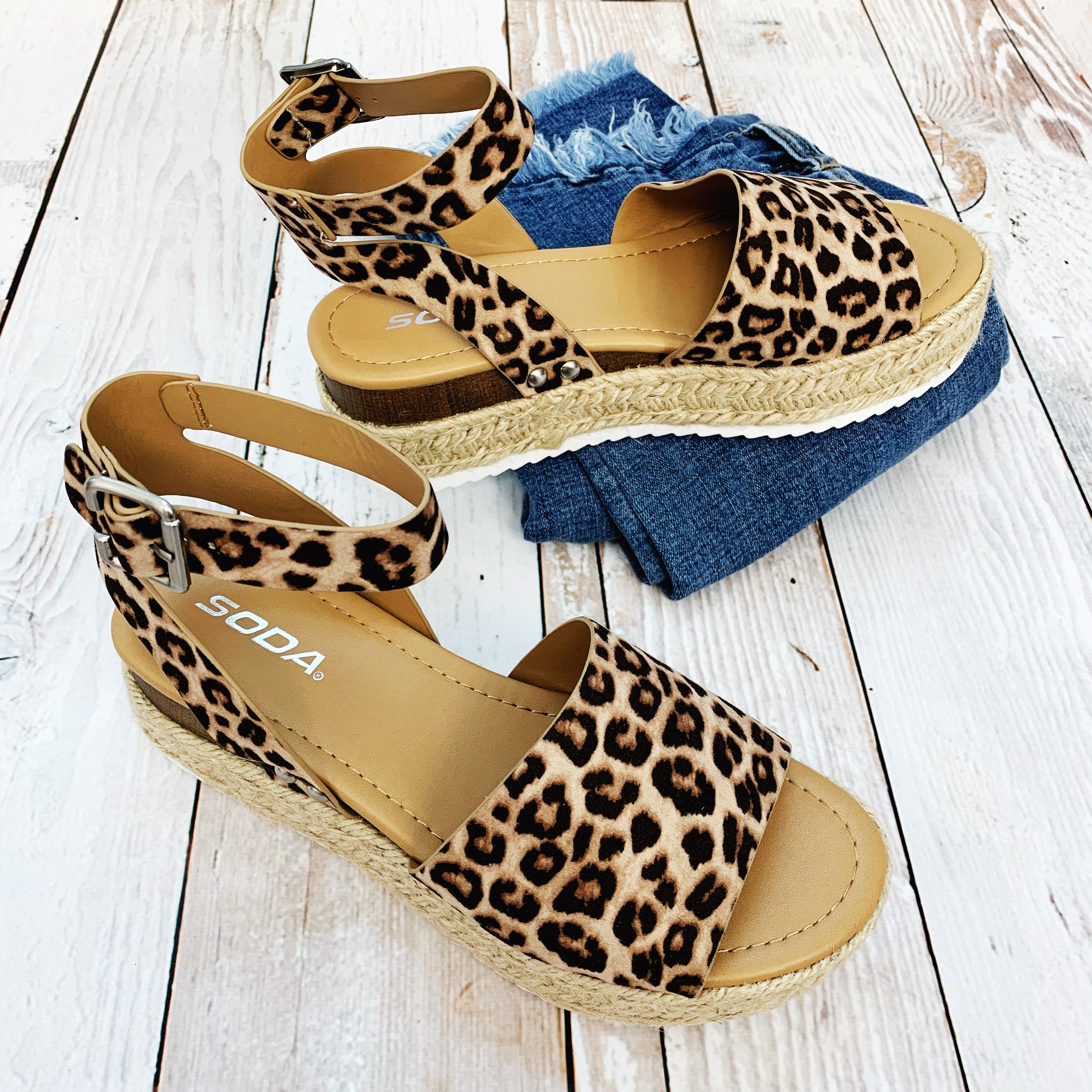 Topic Animal Print Wedge Sandal