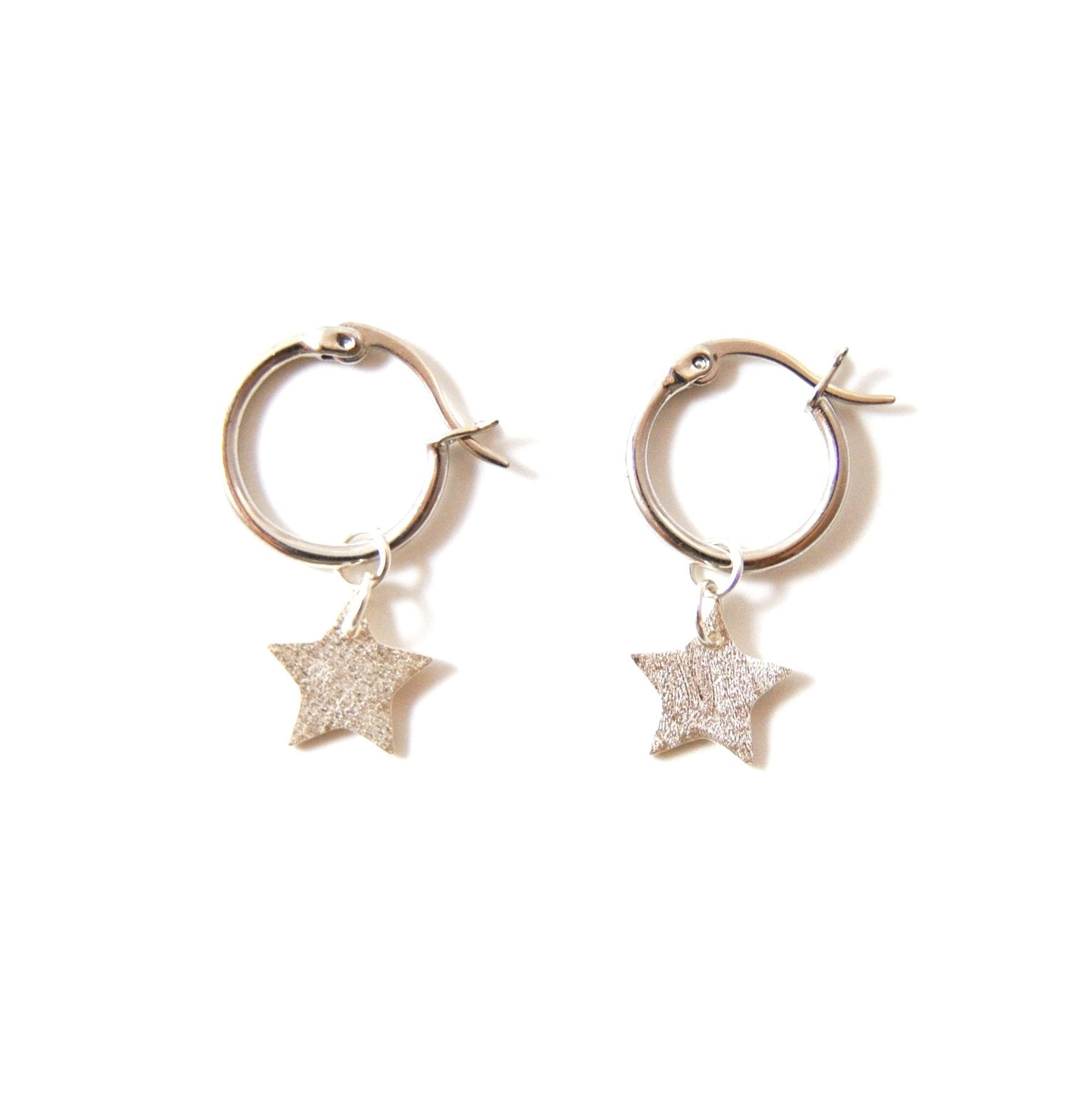 f.y.b Kaia Hoop Star Earrings