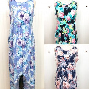 Sweet Lovely Floral High-Low Maxi