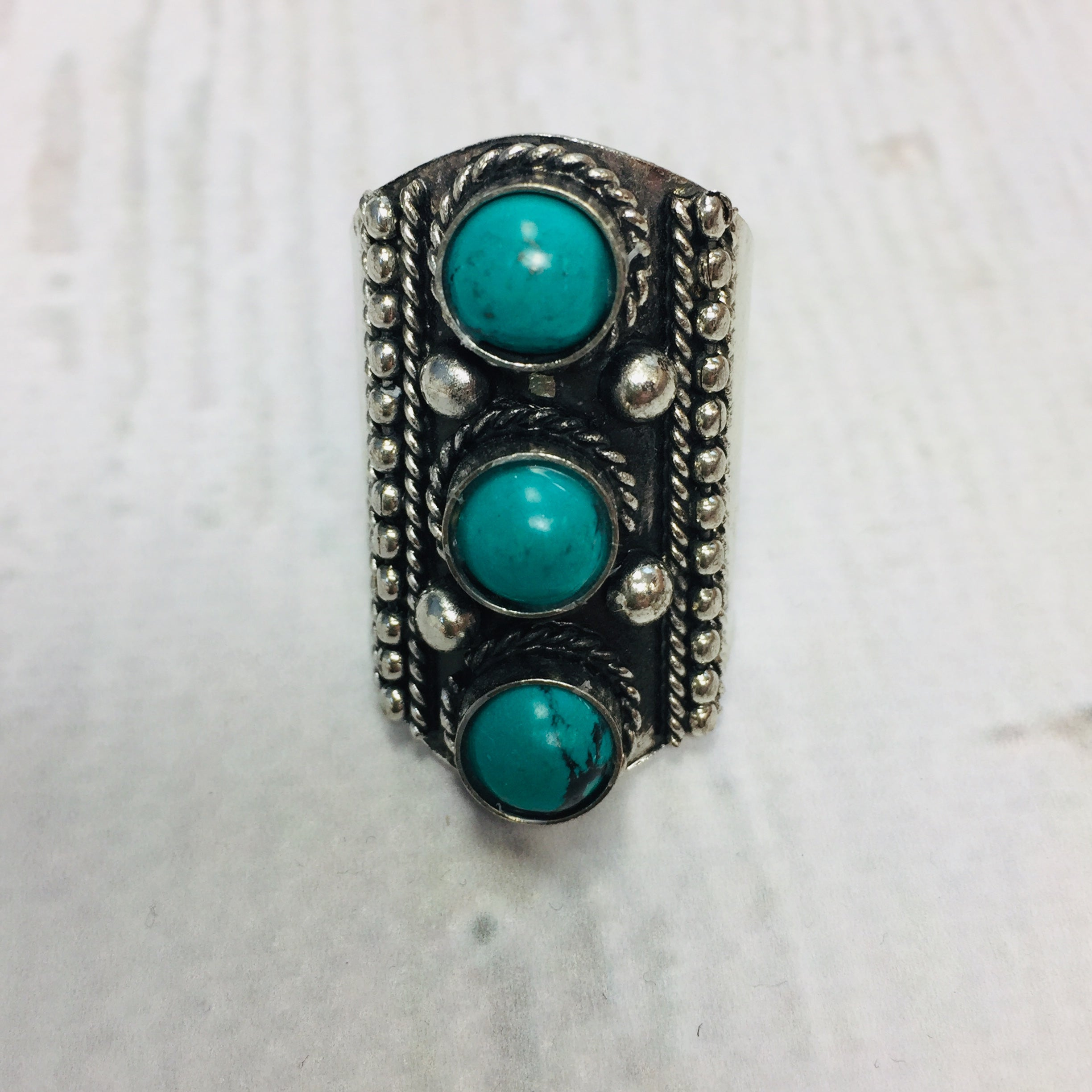 Crazy Train Penelope Turquoise silde ring