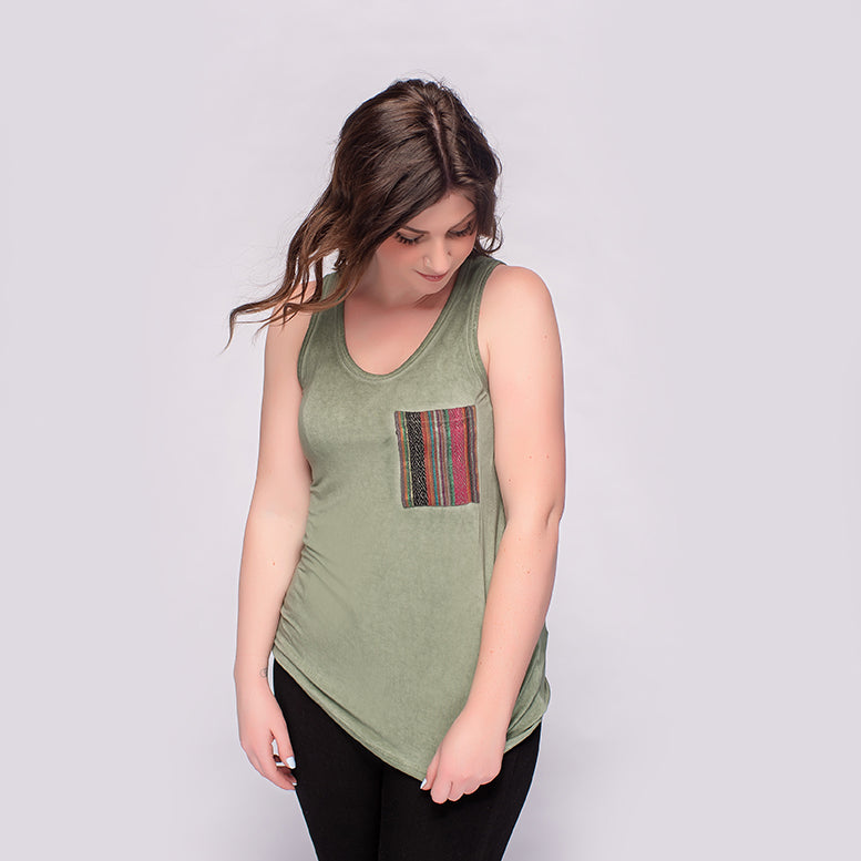 POL Mineral Wash Tank with Aztec Pocket