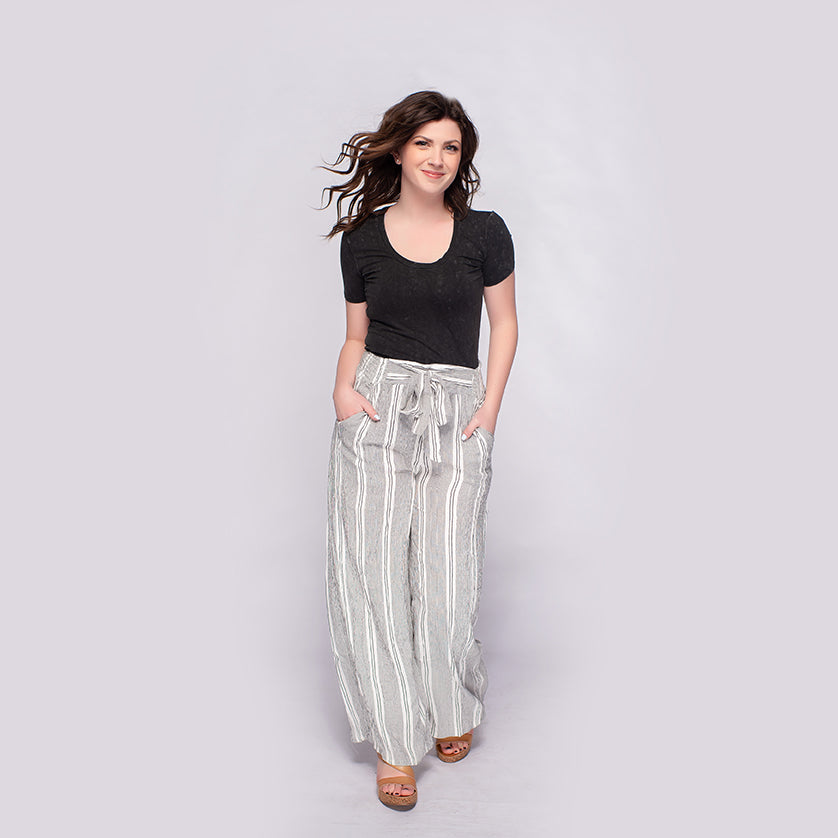 Angie Wide Leg Pants with Self Tie *Final Sale*