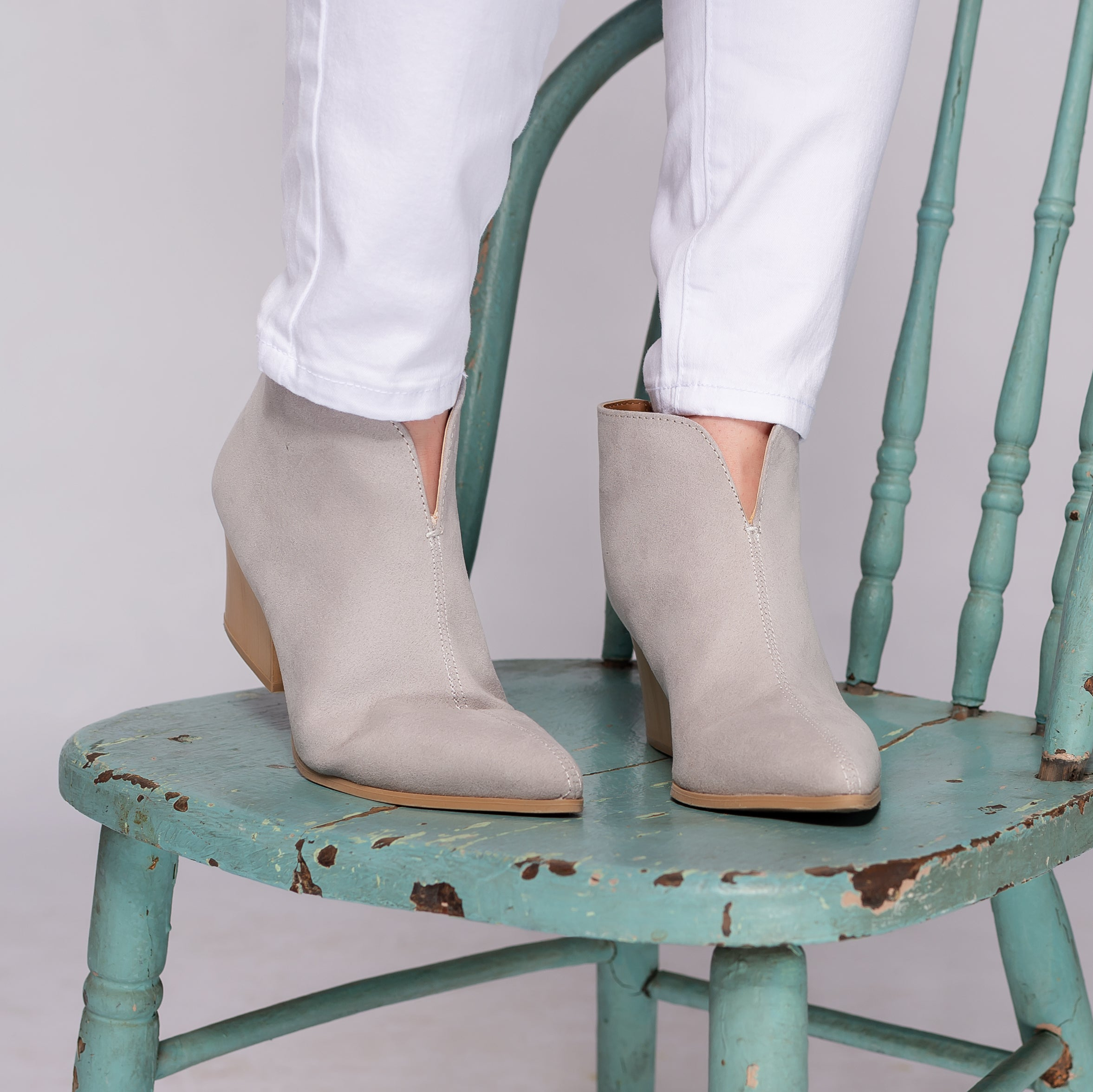 Qupid NAVA Grey Booties
